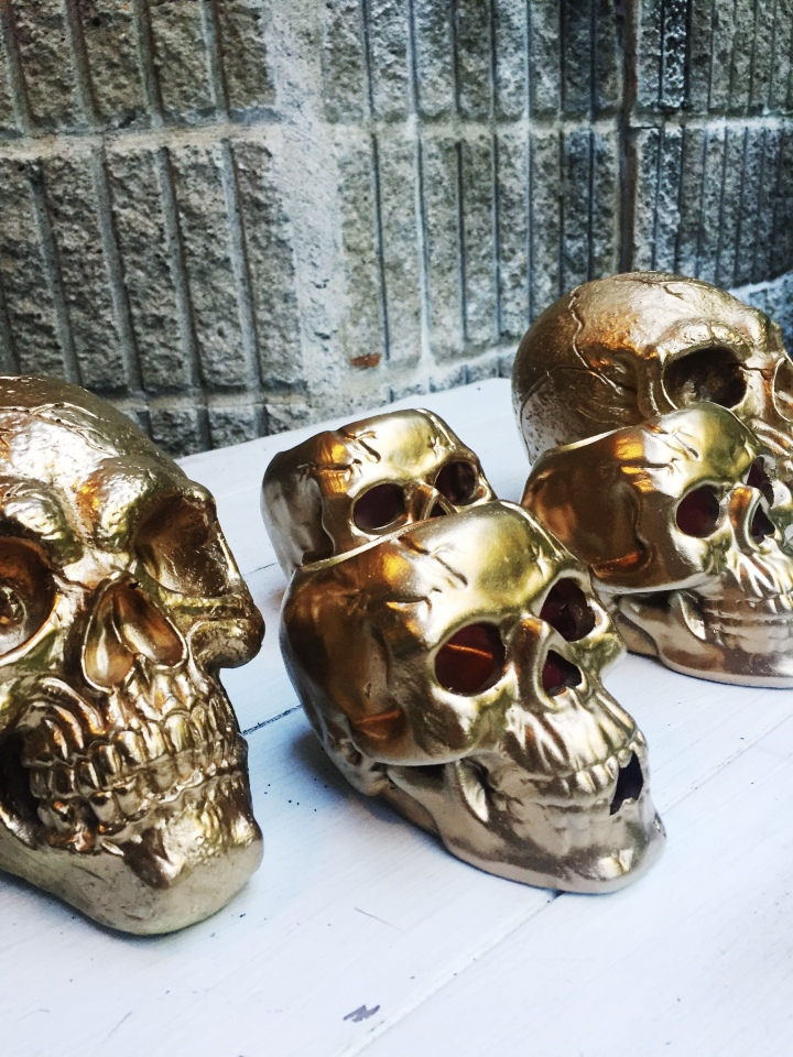 DIY Glam Skull Heads