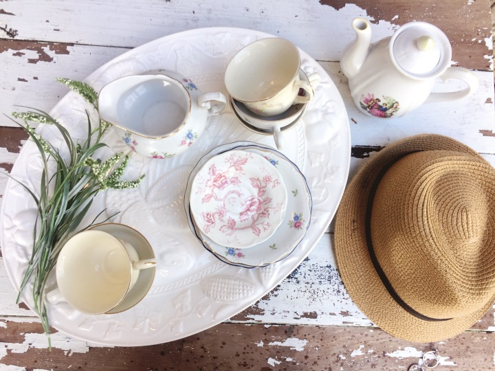 A mixed matched-made in heaven tea set